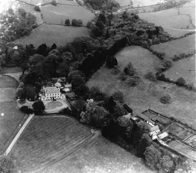 Plas Cilybebyll taken from Lancaster during World War II by Unknown